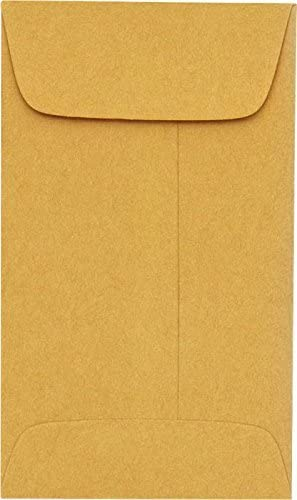 LUXPaper #6 Coin Envelopes Special Campaign in 24 Kraft Collec Brown lb. Year-end gift for