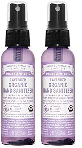 Dr. Bronner's Organic Lavender Hand Sanitizing Spray - 2 oz....
