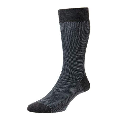 Pantherella Bleinheim Herren-Socken aus Merinowolle, 3 Farben - Grau - Medium