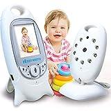 TSAR003 Cámara Web para Bebés Monitor De Video para Bebés Monitor De Video para Bebés con Detección De Visión Nocturna Sensor De Temperatura Bidireccional para Monitor De Bebés/Mascota/Niñera