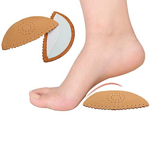 pbfone 2Paar Latex Orthopädische Einlagen flach Fuß Fußgewölbe Balance Kissen High Heel Leder Schuh Orthopädische Schuhe Pad