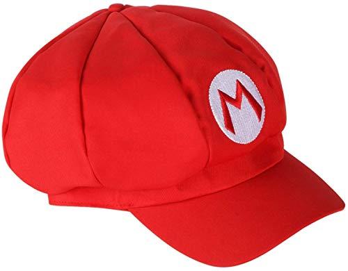 Super Mario Mütze in rot für Fasching und Karneval Mützen Hut Cap für Herren und Damen