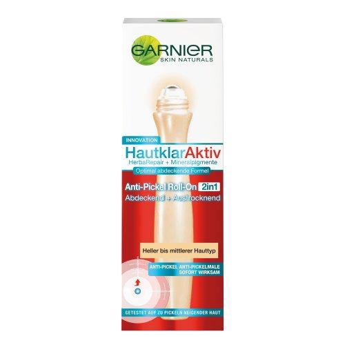 Garnier Hautklar Aktiv Anti-Pickel Roll-On 2-in-1, Heller/Mittlerer Hauttyp, 1er Pack (1 x 15 ml)