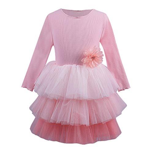Likecrazy Mädchen Kleid Kleinkind Baby Kind Mädchen Lange Ärmel Tutu Prinzessin Kleid Layered Kleid Outfits Kleidung Baby Party Tüll Tutu Kleid Taufkleid Herbst Winter