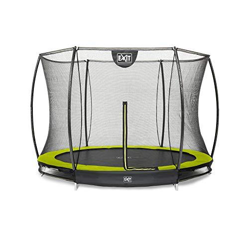 Trampoline - EXIT Silhouette Inground (incl. veiligheidsnet) - 244 cm - Groen