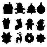 ABCDJHH Juego de imágenes para rascar, decoración navideña, Papel para rascar con arcoíris, 12 Piezas.