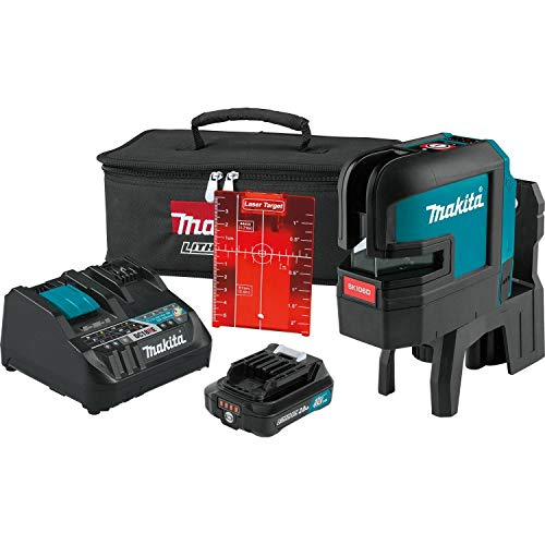 Makita SK106DNAX 12V max CXT Lithium-Ion Cordless Self-Leveling Cross-Line/4-Point Red Beam Laser Kit (2.0Ah) New Jersey