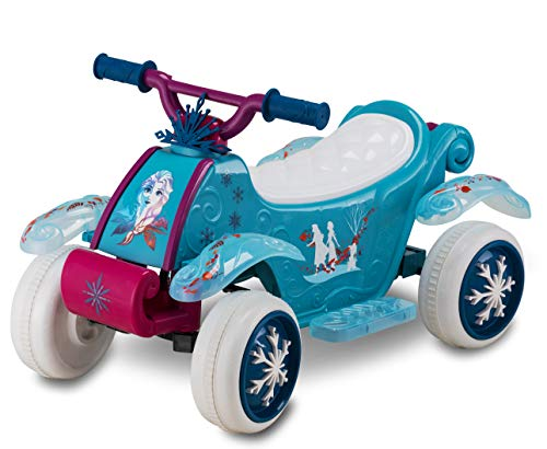 Kid Trax Toddler Disney Frozen 2 Electric Quad Ride On Toy, Kids 1.5-3 Years Old, 6 Volt Battery and Charger Included, Max Weight 45 lbs, Frozen 2 Blue