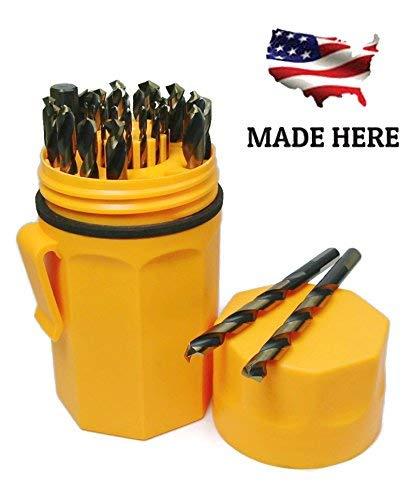 Norseman Super Premium Magnum 29 Piece Drill Bit Set - Orange Ultradex - 46962-135 Degree Split Point - Round Shank With Three Flats