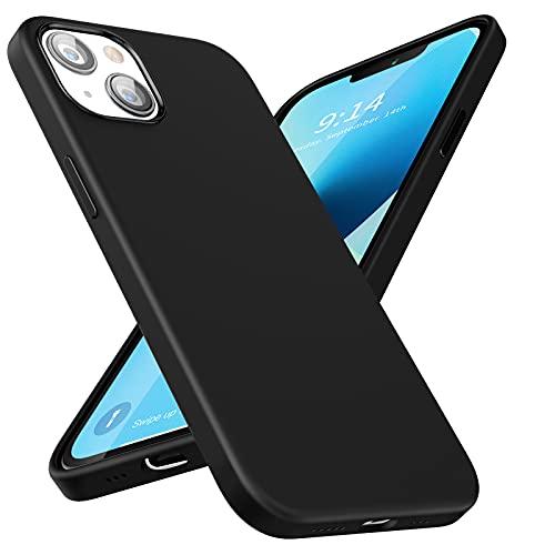 SmartDevil Cover Compatibile con iPhone 13 [Silicone Liquido Originale][con Pellicola Vetro Temperato], Custodia Morbido Setoso Case Antiurto Militare, Sottile Anti Scivolo Cover iPhone 13(6.1') -Nero