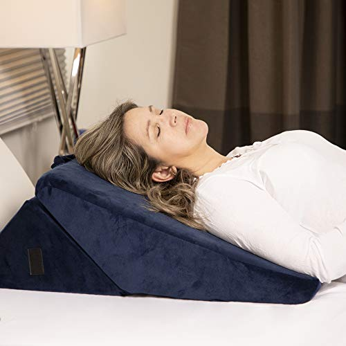Eloquent Thyme Wedge Pillow for Bed, Helps with Sleep, GERD and Acid Reflux, Adjustable Memory Foam Wedges for Adults 22
