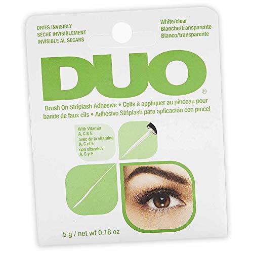 ARDELL DUO Brush on Adhesive with Vitamins A, C & E Wimpernkleber für künstliche Wimpern mit Vitamin A, C & E, das Original für perfekte lashes, 5g (1x)