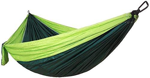Hamaca Hamaca Doble Camping al Aire Libre, Tela de paracaídas Ultraligero 300 * 200 cm, jardín portátil Transpirable Camping Beach Swing (Color : B)
