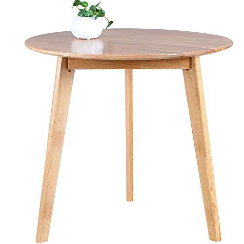 HCYTPL Bijzettafel100% massief hout eettafel wit eiken ronde tafel eenvoudige salontafel naast salontafel