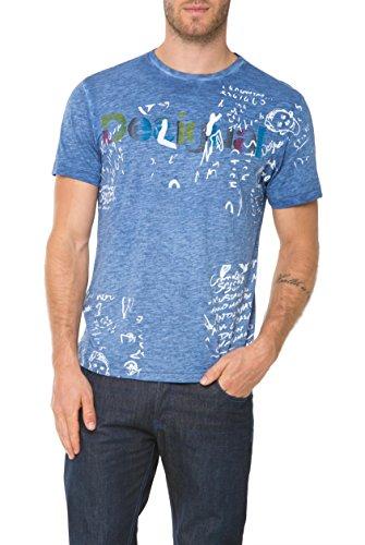 Desigual Fresh-T Camiseta, Twilight Blue, S para Hombre