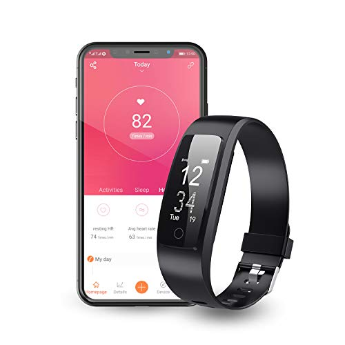 DBPOWER Activity Tracker Heart Rate Monitor, IP67 Waterproof Fitness Tracker with Step Tracker,Sleep Monitor Calorie Counter,Pedometer Watch for Women,Men, Kids and Gift