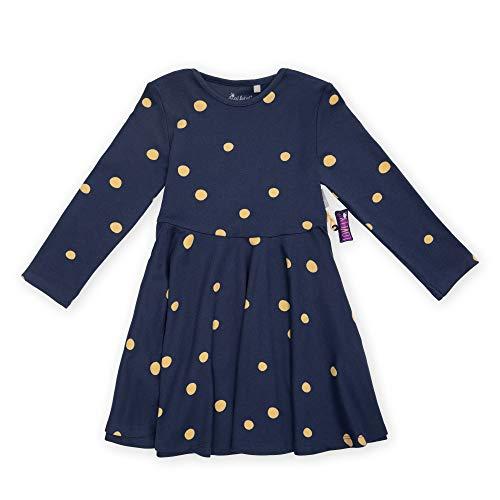 Sigikid Girls Mini-Mädchen Langarm-Kleid aus Bio-Baumwolle, Größe 098-128, spielerisches Hangtoy Playwear Dress, Blue/Dots, 6 Years