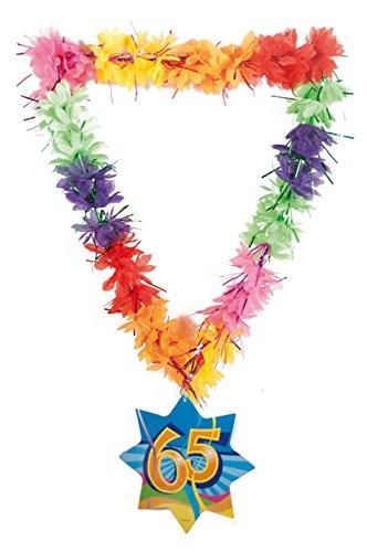 Creative décoratifs Hawaii Lei Guirlande Happy 65e Anniversaire