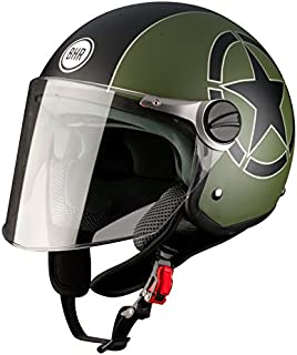 BHR 93831 Demi-Jet Star 710 - Casco de Moto, Verde, 53/54 (
