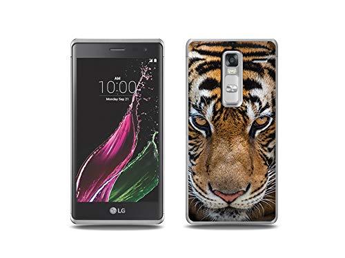 etuo Handyhülle für LG Zero - Hülle, Silikon, Gummi Schutzhülle - Blick von Tiger