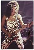Puzzle für 500 Teile Der legendäre Gitarrist Eddie Van Halen 12 Holz Puzzlespiel Erwachsenen und Kinder puzzle Poster 200 Piece 13.7x9.8inch(35x25cm) Kein Rahmen