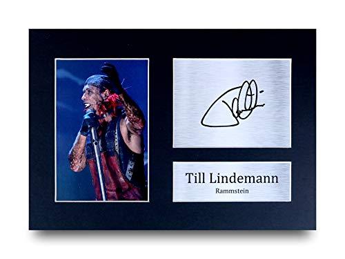 HWC Trading Till Lindemann A4 Ungerahmt Signiert Gedruckt Autogramme Bild Druck-Fotoanzeige Geschenk Für Rammstein Musik-Fans