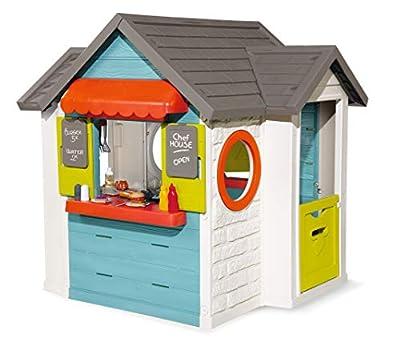 Smoby – Chef Haus - Multifunktionshaus für Kinder für drinnen und draußen, Restaurant, Spielhaus und Kaufmannsladen für Jungen und Mädchen ab 2 Jahren