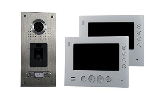 AE CKZ2-812S1-02 2 Fam. Fingerabdruck Farb-Videotürsprechanlage Set 2, 2 Stück