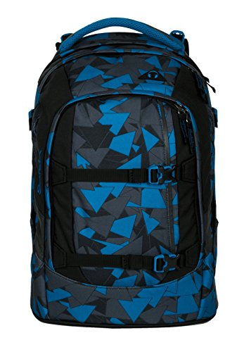 Satch Pack by Ergobag - 3 tlg. Set Schulrucksack - Blue Triangle