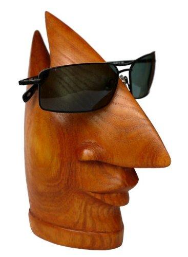 Brillenhalter Holz Nase Brillenständer hell Sonnenbrille Brille02