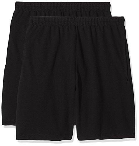 Fruit of the Loom Herren Lightweight Shorts, Schwarz (Black), Large