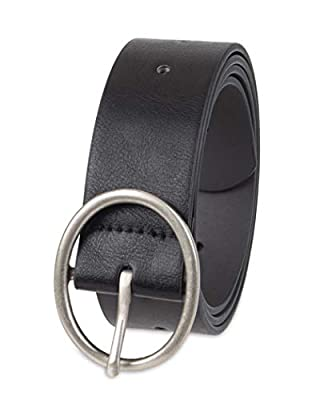 Amazon Essentials Women's Plus Size Fully Adjustable Casual Belt with Rounded Buckle, Black, 2X