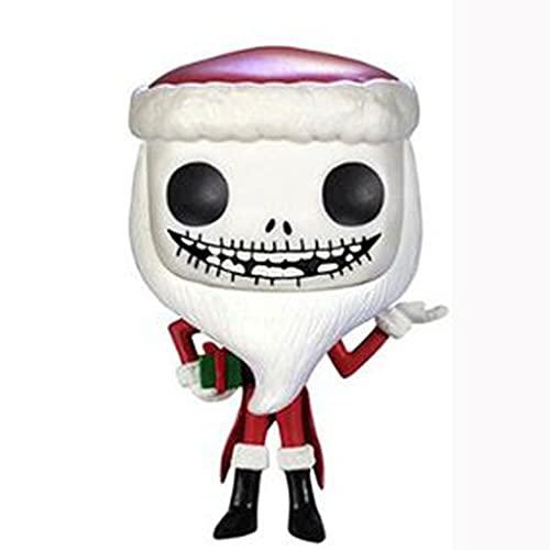 The Nightmare Before Christmas Pop Figure Santa Jack Skellington Chibi Vinly PVC Decor Collection Model Decorations