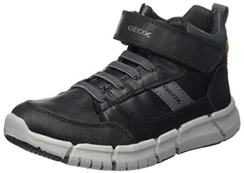 Geox J FLEXYPER Boy B Backpacking Boot, Schwarz (Black/Grey), 34 EU
