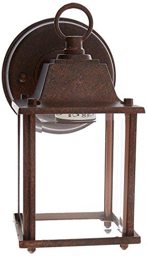 Boston Harbor AL1037-RB3L 3557139 Dimmable Outdoor Lantern, (1) 60/13 W Medium A19/Cfl Lamp, Rustic, Brown