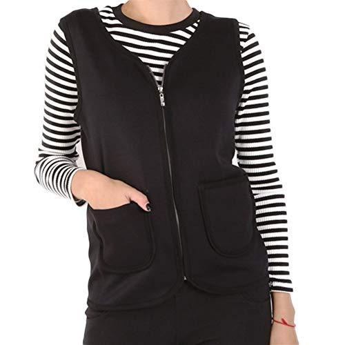 Gilets voor vrouwen zachte en dikke fluwelen Plus meststof om de warme rits vest vest vest voor koud weer te verhogen