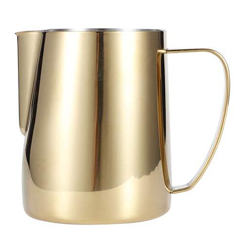 Wakisuvc Taza de café Reutilizable de Acero Inoxidable Taza de café Jarra humeante de expreso Jarra para Hacer Espuma con Leche Espresso 7 oz-9,9 oz Taza de Jarra de Leche con Mango(12 * 11 * 11)