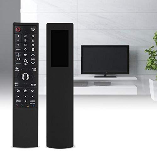 Mxzzand Funda de Control Remoto de Silicona Protectora cómoda para el Control Remoto de TV AN-MR700(Black)