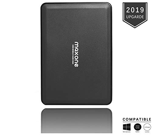 500Go Disque Dur Externe Portable USB3.0 SATA HDD de Stockage pour PC de Bureau, Ordinateur Portable, MacBook, Chromebook Rouge. (500GB, Black)