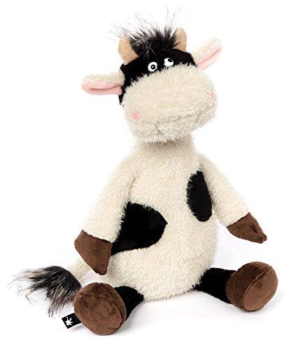 sigikid, Stofftier für Erwachsene und Kinder,  Kuh, AchGoood Family und Friends, Weiß und Schwarz, 38720