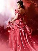 TTL方形ダイヤモンド絵画女性フルラインストーン5DDIYダイヤモンド刺繡肖像画妖精クロスステッチモザイク家の装飾