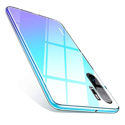 AINOPE Kompatibles Huawei P30 Pro hülle, Transparent [Anti-Gelb] Schmales Gehäuse für Huawei P30pro [Anti-Fleck] [Weiches TPU] [Kratzfest] mit Display und Kameraschutz P30 PRO Cover 6,47 Zoll