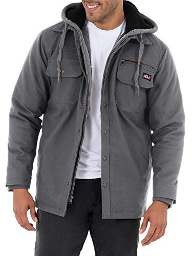 Dickies Charcoal Gray Relaxed Fit Canvas Shirt Jacket - Small