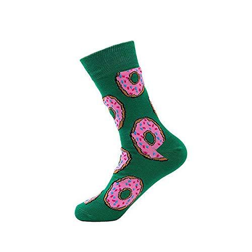 LILONGXI Funny Sokken, Outdoor Mode Atletische Breien Sokken Plaat Patroon afdrukken Sokken Ademende Antibacteriële Ms, Herfst Winter Warm Katoen Sokken (3st)