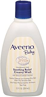 Aveeno Baby Soothing Relief Cream Wash, 12-Fluid Ounces Bottles (Pack of 3)