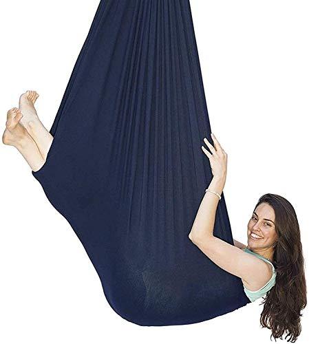 Terapia interior Swing Aéreo de yoga Hamaca para adultos y niños con necesidades especiales Terapia Terapia Elástica Swing Hamaca colgante Cama para niños para niños Jardín exterior interior, Carga ha