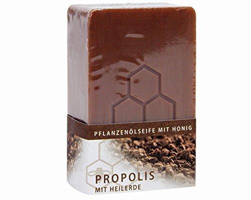 Propolis Honigseife mit Heilerde Pflanzenölseife 100 gr.