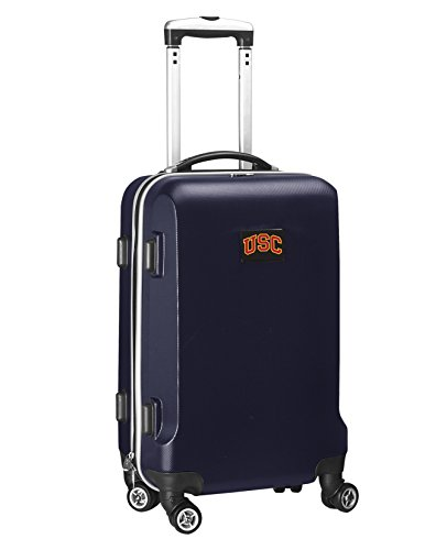 Denco NCAA USC Trojans Carry-On Hardcase Luggage Spinner, Navy