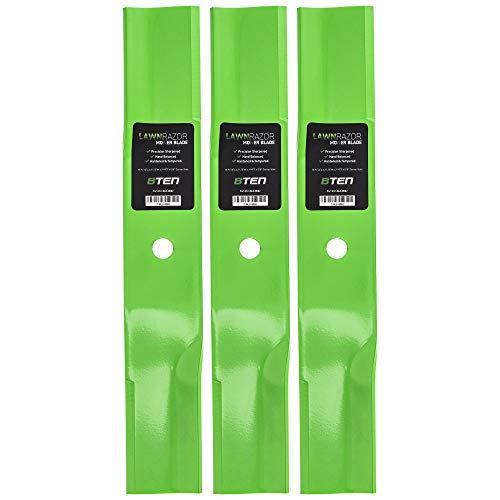 8TEN LawnRAZOR Low-Lift Blade Set 44 Inch Deck for Toro TimeCutter 106-0630 54-0010 54-0010-03 55-4940 92-7952 3 Pack