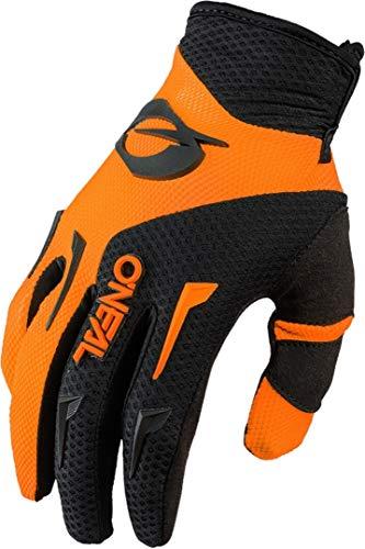 O'NEAL | Fahrrad- & Motocross Handschuh | Kinder | MX MTB DH FR Downhill Freeride | Langlebige, Flexible Materialien, belüftete Handinnenfäche | Element Youth Glove | Schwarz Neon-Orange | Größe L